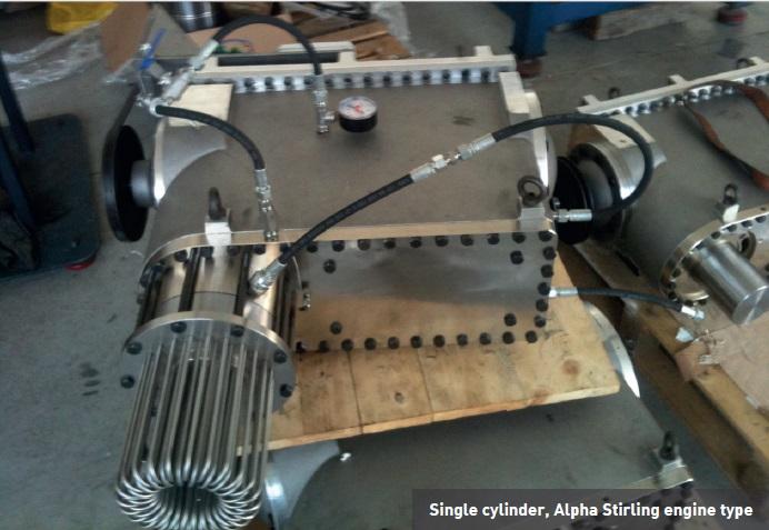 Rysunek 4. Komercyjny silnik Stirlinga do wykorzystania ciepła odpadowego